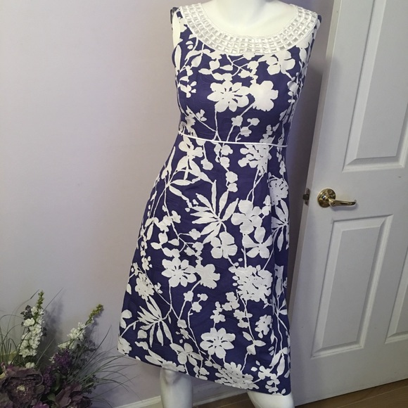 1e6adba02388 Jessica Howard Dresses | Jessica H Blue And White Dress | Poshmark